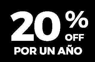20% por un año.